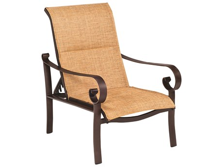 Woodard Belden Padded Sling Aluminum Lounge Chair