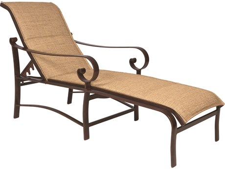 Woodard Belden Padded Sling Aluminum Chaise Lounge