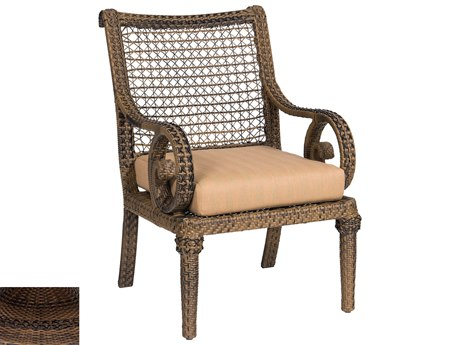 Woodard South Shore Wicker Dining Chair With Seat Cushion