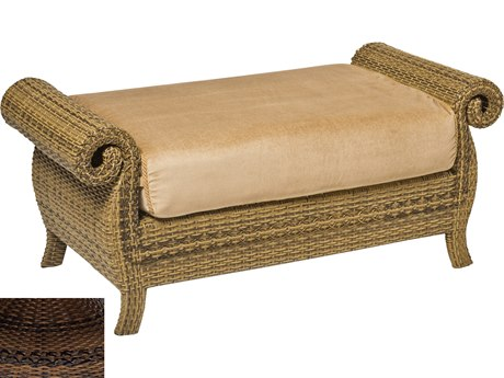 Woodard South Shore Wicker Ottoman And A Half