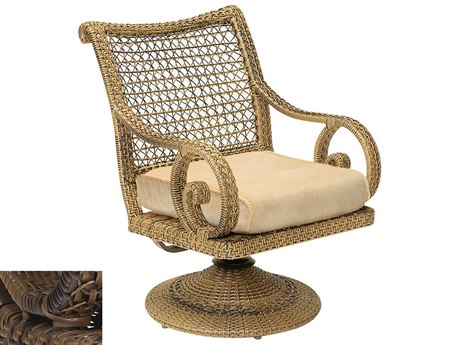 Woodard South Shore Wicker Swivel Rocker With Seat Cushion