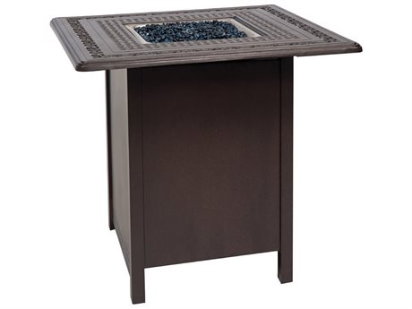 Woodard Aluminum 25.50 Square Counter Height Fire Table Base with Square Burner