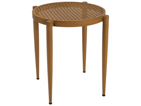 Woodard Parc Aluminum 22 Round End Table