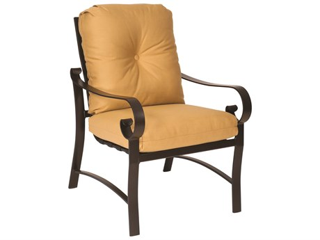 Woodard Belden Cushion Aluminum Dining Arm Chair