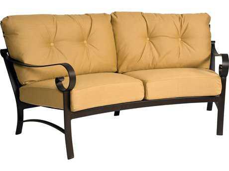Woodard Belden Cushion Aluminum Crescent Loveseat
