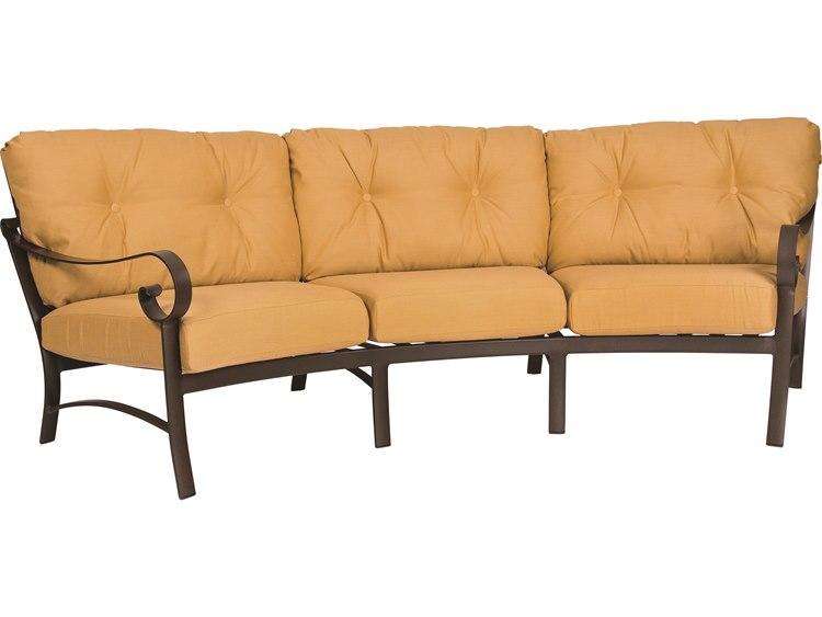 Woodard Belden Cushion Aluminum Crecent Sofa
