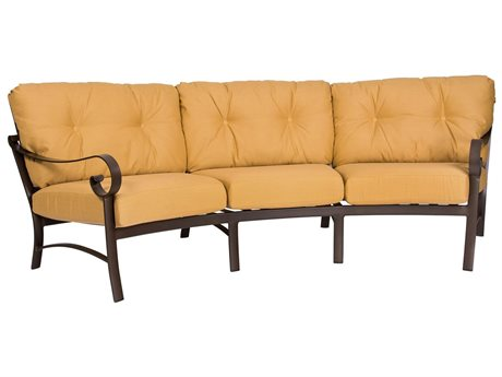 Woodard Belden Cushion Aluminum Crecent Sofa