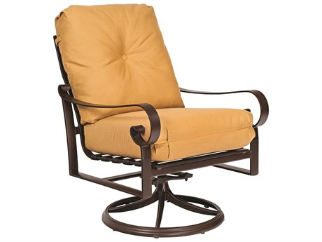 Woodard Belden Cushion Aluminum Swivel Rocker Lounge Chair PatioLiving