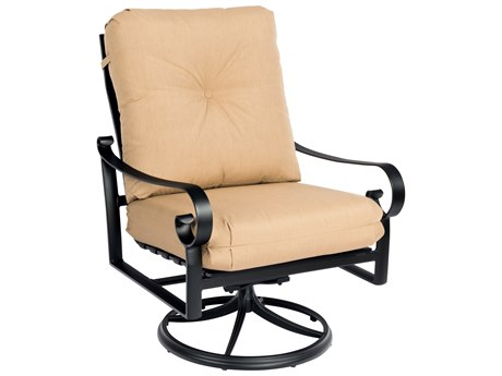 Woodard Belden Cushion Aluminum Big Mans Swivel Rocking Lounge Chair