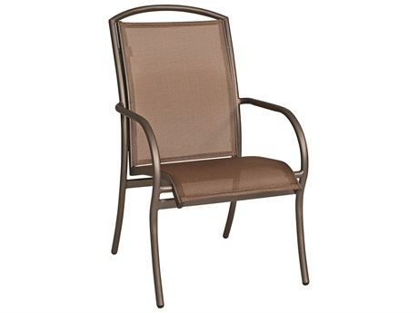Woodard Rivington Sling Aluminum Stackable Dining Arm Chair