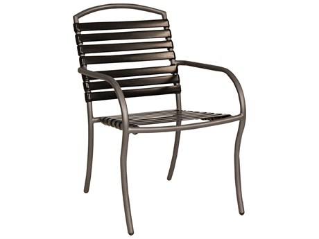 Woodard Rivington Strap Aluminum Stackable Dining Chair