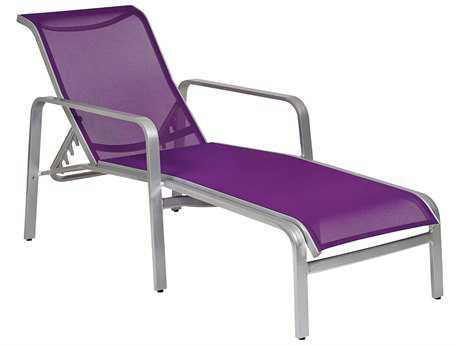 Woodard Landings Sling Aluminum Stackable Chaise Lounge