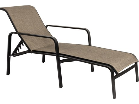 Woodard Landings Sling Aluminum Stackable Adjustable Chaise Lounge