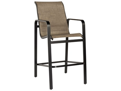 Woodard Landings Sling Aluminum Bar Stool