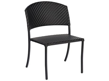 Woodard Whitecraft Barlow Wicker Dining Side Chair w/ Seat Cushions