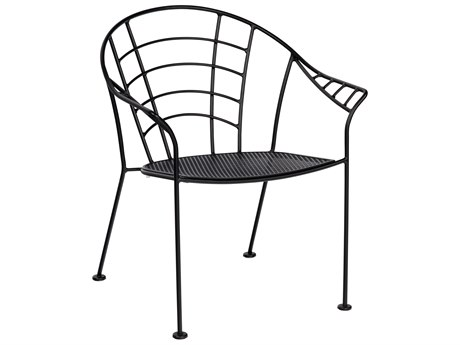 Woodard Hamilton Wrought Iron Stackable Dining Arm Chair