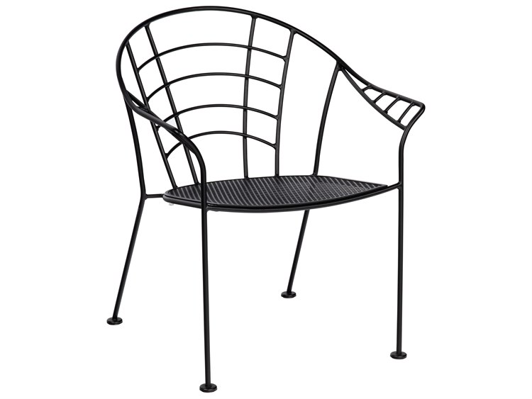Woodard Hamilton Wrought Iron Stackable Dining Arm Chair  PatioLiving
