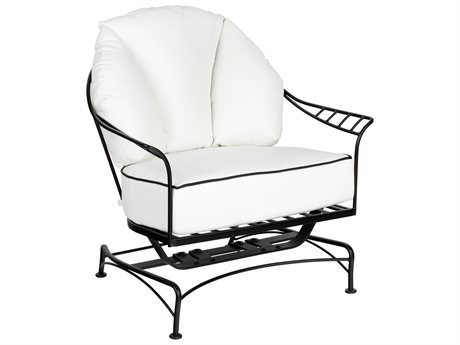 Woodard Hamilton Wrought Iron Spring Lounge Chair