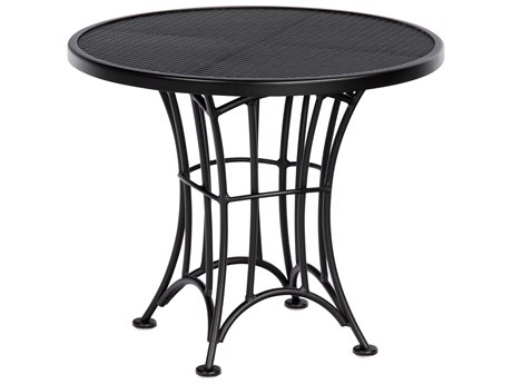 Woodard Hamilton Wrought Iron 24''Wide Round End Table PatioLiving