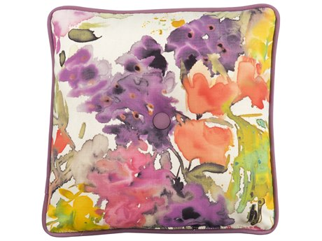 Woodard 17 x 17 Throw Pillow with Button PatioLiving