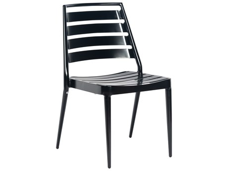 Woodard Aluminum Stackable Slat Dining Chair