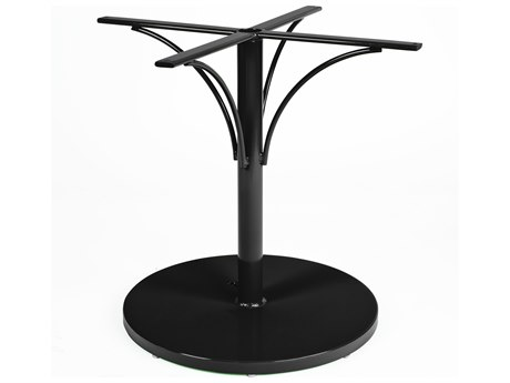 Woodard Aluminum Pedestal Dining Base with Weighted Umbrella Base