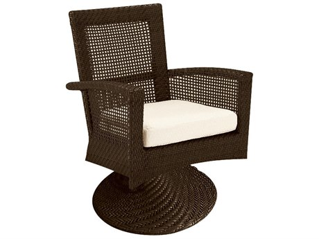 Woodard Trinidad Wicker Swivel Rocker
