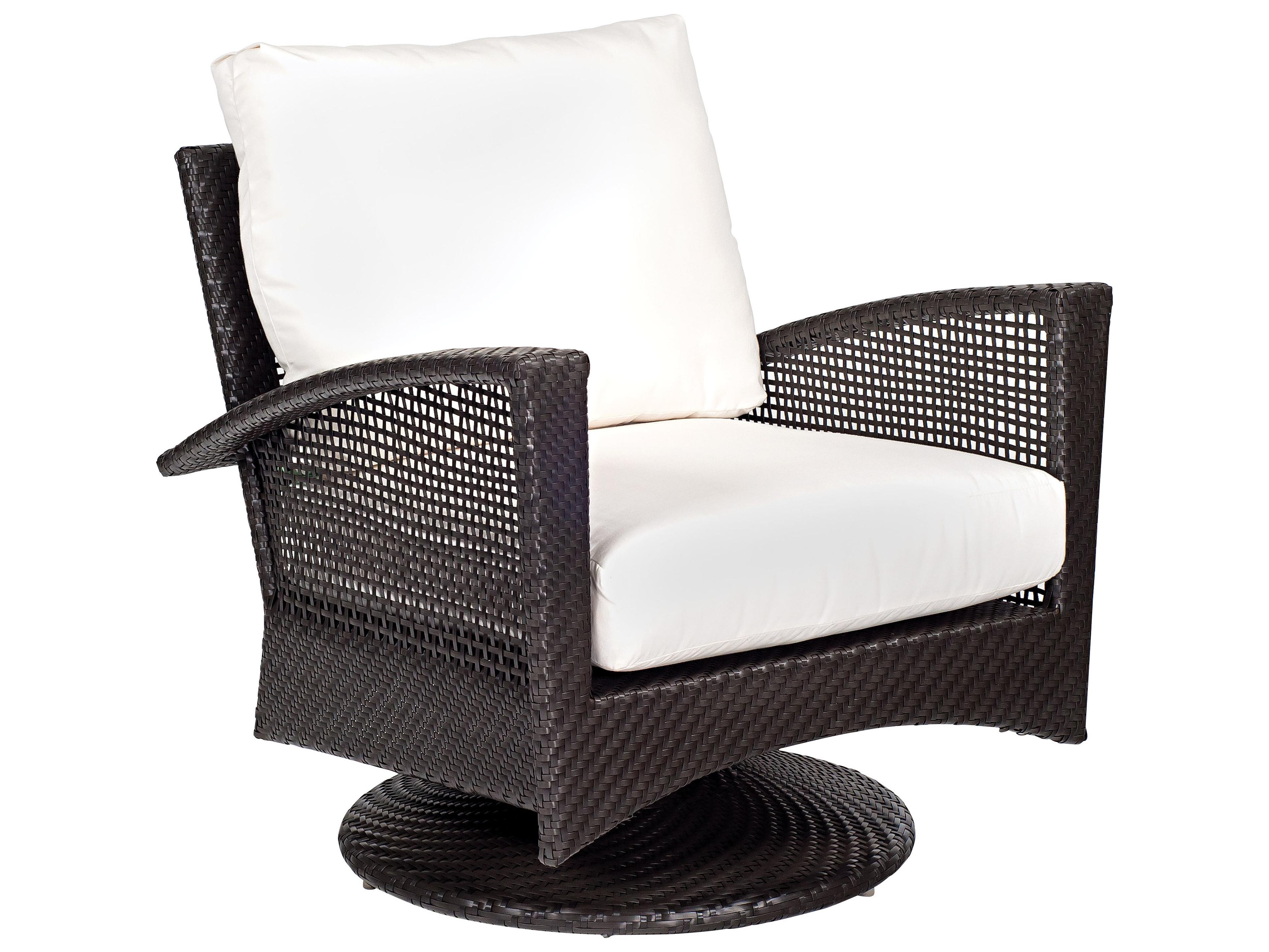 Woodard Trinidad Wicker Swivel Lounge Chair 6u0077j