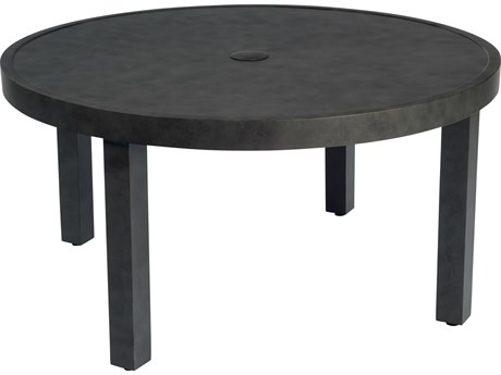 Woodard Essential Aluminum 36 Round Coffee Table with Umbrella Hole
