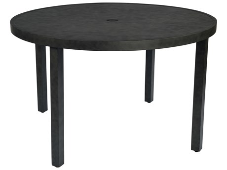 Woodard Essential Aluminum 48 Round Table with Umbrella Hole