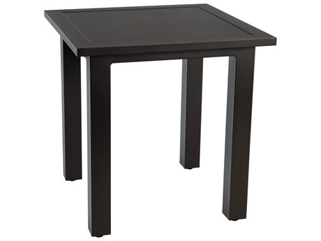 Woodard Elemental Aluminum 22''Wide Square End Table PatioLiving