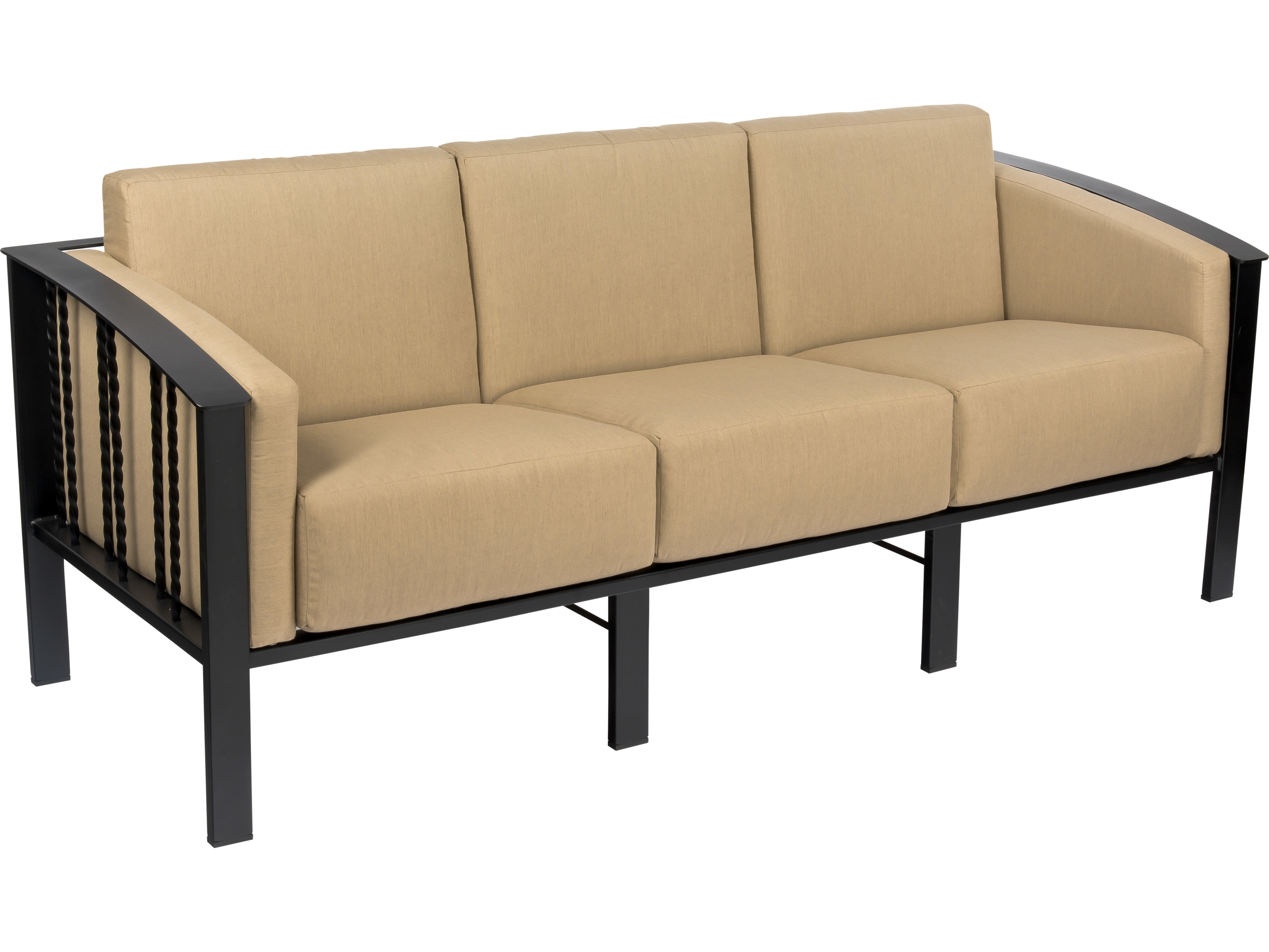 Woodard Comstock Wrought Iron Sofa