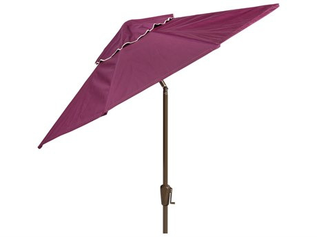 Woodard 7 1/2 Ft. Aluminum Push-Button Tilt Umbrella - Champagne