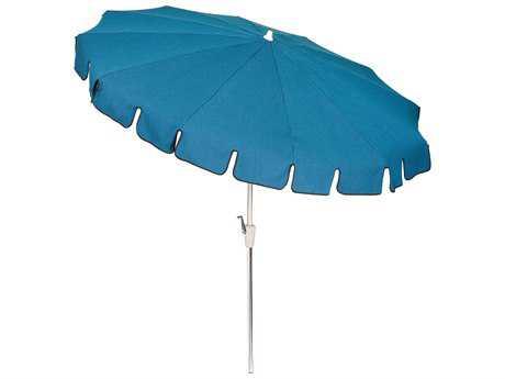 Woodard 8 1/2' 12-Rib Crank Lift, Auto-Tilt  Umbrella - Anodized Aluminum