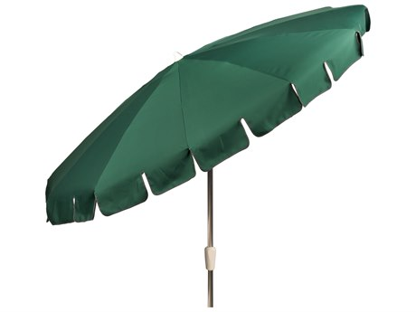 Woodard 8 1/2 12-Rib Crank Lift Auto-Tilt Umbrella - Anodized Aluminum PatioLiving