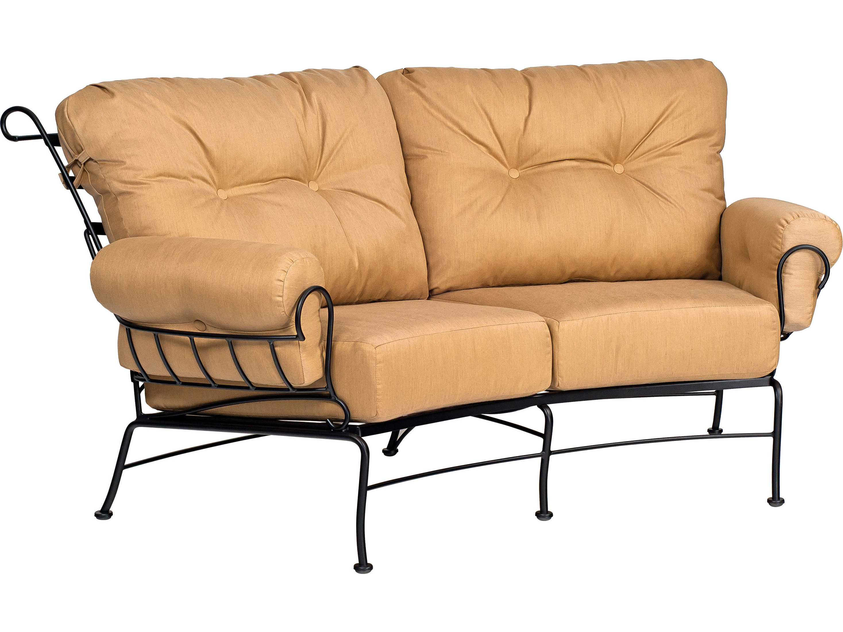 Woodard Terrace Cushion Wrought Iron Lounge Set ...
