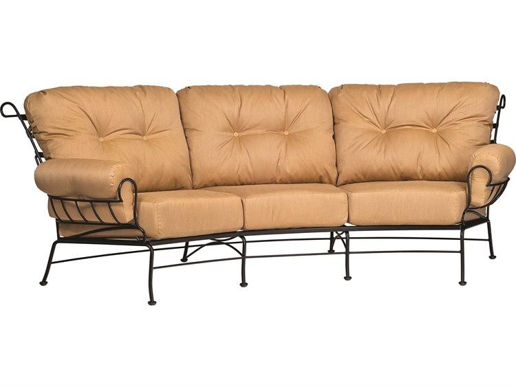 woodard terrace cushion wrought iron crescent sofa 790064. Black Bedroom Furniture Sets. Home Design Ideas