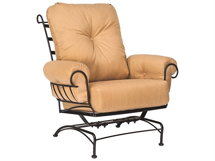 Woodard Terrace Cushion Wrought Iron Spring Lounge Chair
