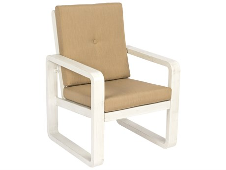 Woodard Vale Cushion Aluminum Dining Arm Chair