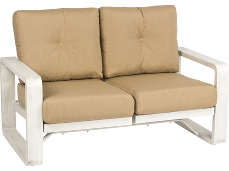 Woodard Vale Aluminum Dual Rocking Loveseat