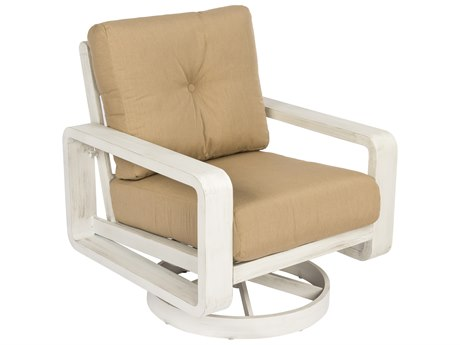 Woodard Vale Cushion Aluminum Swivel Lounge Chair