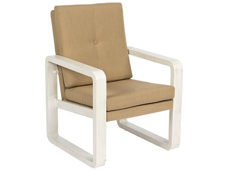 Woodard Vale Aluminum Dining Chair with Upholstered Back
