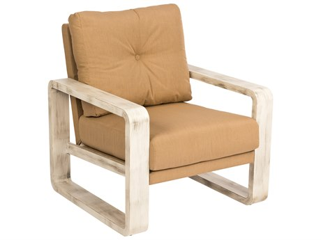 Woodard Vale Aluminum Cushion Lounge Chair with Upholstered Back