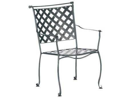 Woodard Maddox Wrought Iron Stackable Dining Arm Chair