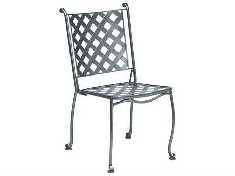 Woodard Maddox Wrought Iron Stackable Bistro Side Chair