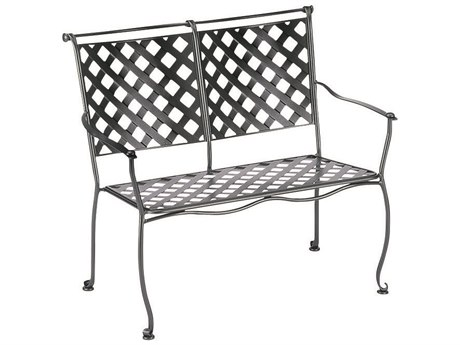 Woodard Maddox Wrought Iron Stackable Bench PatioLiving