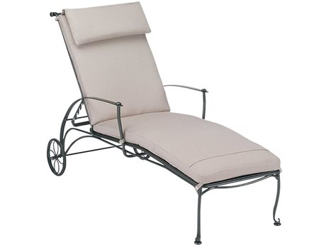 Woodard Maddox Wrought Iron Chaise Lounge with Optional Cushion