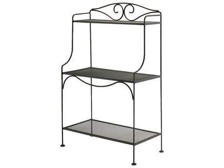 Woodard Wrought Iron Standard Bakers Rack PatioLiving