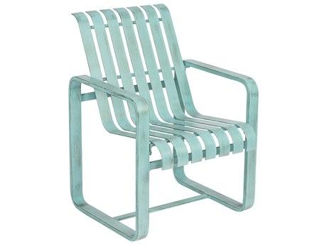 Woodard Colfax Aluminum Dining Arm Chair w/ Seat & Back Cushion