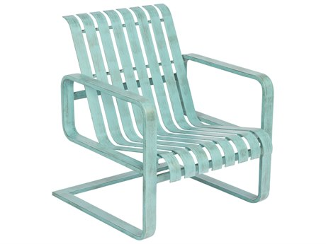 Woodard Colfax Aluminum Spring Lounge Chair w/ Seat & Back Cushion